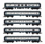 Arnold HN3002 N Gauge SR 5-BEL 'Brighton Belle Pullman' 5 Car Train Pack (Blue/Grey)